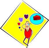 love and cartoon man