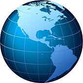 World Globe - USA view - Vector