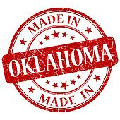 made in Oklahoma red round grunge isolated stamp