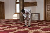 Young African Guy Praying