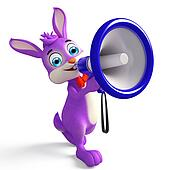 Easter bunny with Loudspeaker