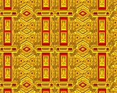 Vintage background, red and gold