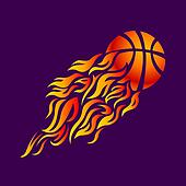 vector, flame, fire, ball, orange, basketball, symbol, icon,