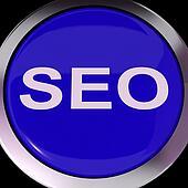 SEO Button Shows Increase Search Engine Optimization