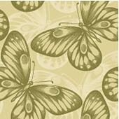 Beautiful seamless background with brown butterflies.