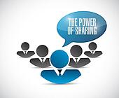 the power of sharing people illustration