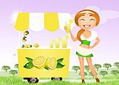 girl with lemonade