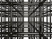 Abstract Metal Construction Stock 3D Illustration
