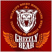 White bear head emblem.