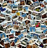 Go Europe - background with travel photos of european landmarks