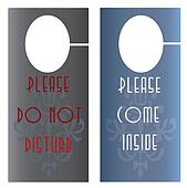 Door privacy hangers