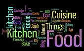 food words black