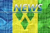 Flag of Saint Vincent and Grenadines wavy news
