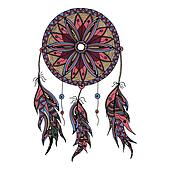 color dream catcher with feathers