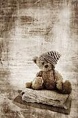 Grunge teddy bear.