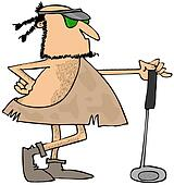 Caveman golfer