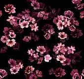 Seamless pansies floral tapestry