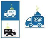 Logo design element Food delivery service