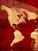 Red Grunge Map