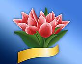 Tulip Bouquet with Clipping Path