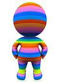 3D rainbow man