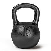 Black sporting kettlebell