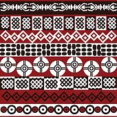 Ethnic pattern with african symbols