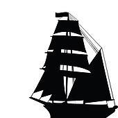 Brigantine silhouette