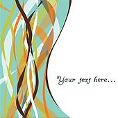 Abstract vector background with ribbons