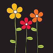 Beautiful stylized flowers