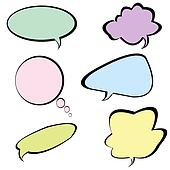 Chat bubbles in different colors