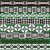 Ethnic African symbols background