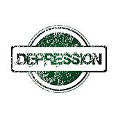 Rubber stamp with depression