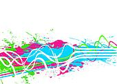 Splattered Paint Background