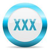 xxx blue glossy icon