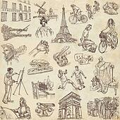 France travel - An hand drawn pack