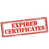 Expired Certificates-stamp