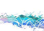 Splattered Paint Background