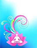 Sky-blue yoga background