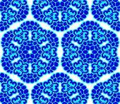 Blue on white seamless arabesque