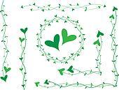 Green heart decoration