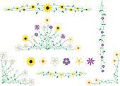 Flower frame decor