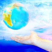 planet in feminine hand