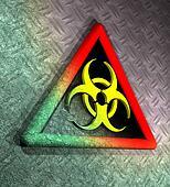 Contaminated biohazard warning sign