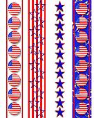 4th of July Patriotic borders