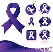 Purple Awareness Ribbons Kit