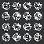 Technology Icons on Internet Buttons