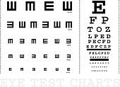 Vector Snellen eye test charts for children and adults