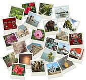 Stack of photo shots with Southern India landmarks