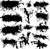 Vector Grunge Ink Splatter Collection